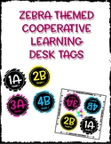 Cooperative Learning Desk Labels - Zebra Theme
