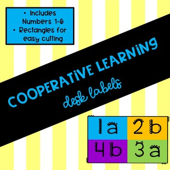 Cooperative Learning Desk Numbers
