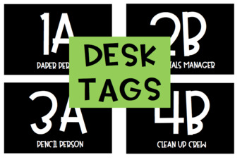 Cooperative Learning Desk Numbers (with table jobs)