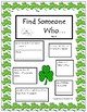 Cooperative Learning - Find Someone Who... A Get to Know You Activity
