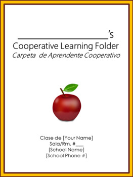 Cooperative Learning Folder Cover Sheet - Bilingual - Charlie Brown Tribute