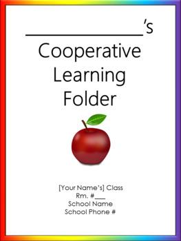 Cooperative Learning Folder Cover Sheet - Bilingual - Noah's Rainbow