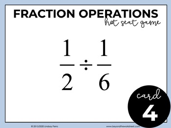 Fraction Operations Game - Free Activity