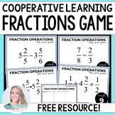 Fraction Operations Game - Free Cooperative Learning Activity