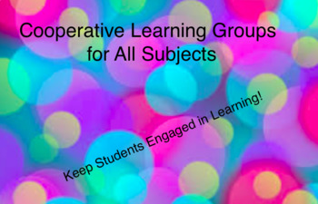 Cooperative Learning Groups: Tons of Ideas for all subjects!