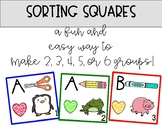 Cooperative Learning Group Sorting Squares!