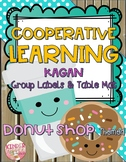 Cooperative Learning Group Labels & Table Mat Donut Shop Theme