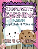 Cooperative Learning Group Labels & Table Mat Milk & Cookies Theme