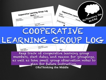Cooperative Learning Group Log