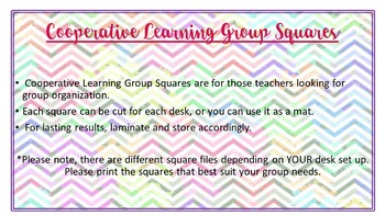 Cooperative Learning Group Mats