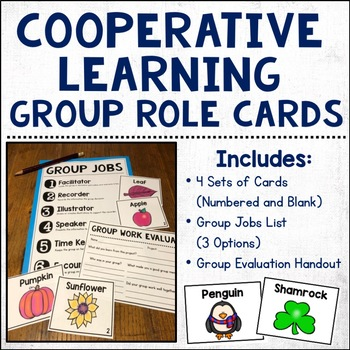 Cooperative Learning Group Role Cards