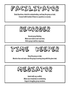 Cooperative Learning Group Roles