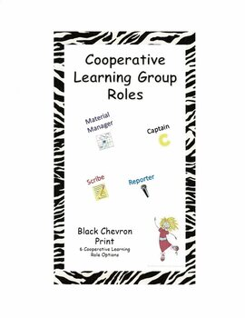 Cooperative Learning Group Roles  - Black Chevron