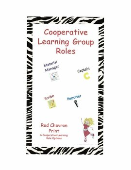 Cooperative Learning Group Roles - Red Chevron