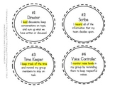 Cooperative Learning Group Roles/Jobs Badges or Labels *FREEBIE*