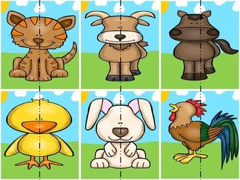 Pick a Partner Cards: Farm Animals
