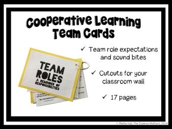 Cooperative Learning Groups - Team Cards