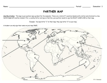 Cooperative Learning History Partner Maps (Clock Buddies)