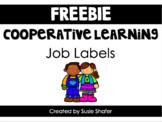 Cooperative Learning Job Labels (B/W FREEBIE!)