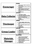 Cooperative Learning Job Placards