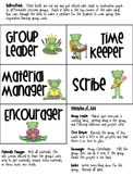 Cooperative Learning Job Tags- Frog Theme