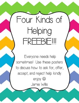 Cooperative Learning: The Four Kinds of Helping Charts FREEBIE!