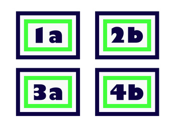 Cooperative Learning Labels - lime and navy