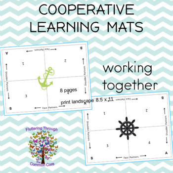 Cooperative Learning Mats NAUTICAL Theme