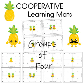 Cooperative Learning Mats PINEAPPLE Theme