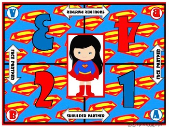 Cooperative Learning Mats - Superhero Theme