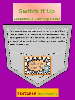 Cooperative Learning Model Switch It Up Accessory