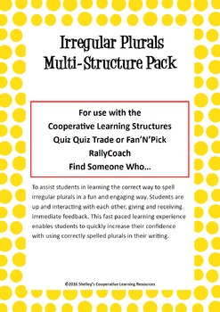 Cooperative Learning Multi-Structure Bundle: Irregular Plurals