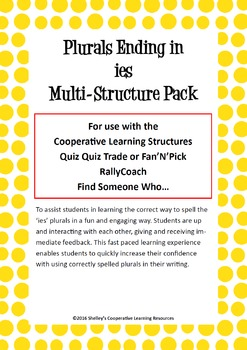 Cooperative Learning Multi-Structure Bundle: 'ies' Plurals