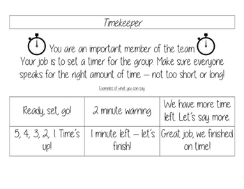 Cooperative Learning Name-tags and Group Roles