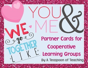 #lovedollardeals Cooperative Learning Pair Cards