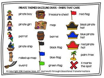 Cooperative Learning Pirate-themed Dazzling Duos Pairs that Care