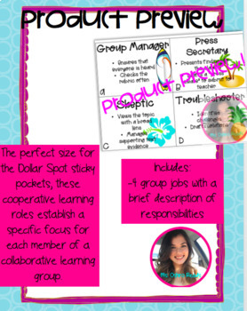 TROPICAL COOPERATIVE LEARNING GROUP ROLES!