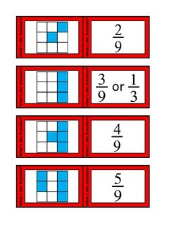 Quiz Quiz Trade Simple Square Fractions Cards