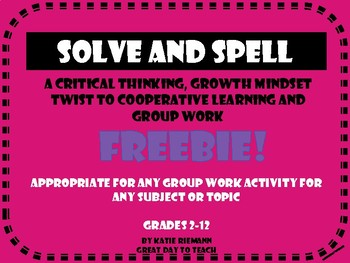 "Cooperative Learning ""Solve and Spell"""