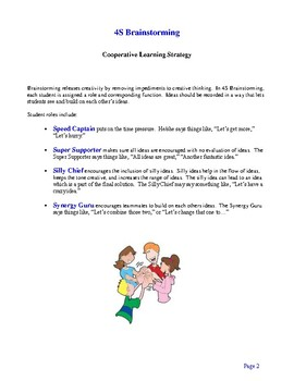 Cooperative Learning Strategies - Ideas and Suggestions