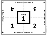 Cooperative Learning Table Mats w/ 10 Group Numbers {FREE}