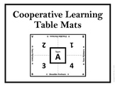 Cooperative Learning Table Mats (Black and White Team Letters)