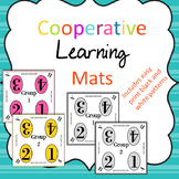 Cooperative Learning Table Mats- for 8 tables in bright colors also easy print