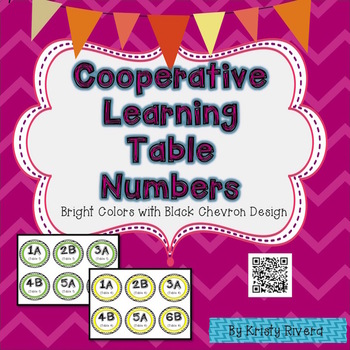 Cooperative Learning Table Numbers