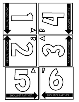 Cooperative Learning Table Numbers/Letters FREEBIE