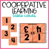 Cooperative Learning - Table Partners Card