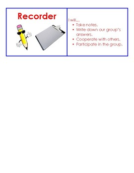 Cooperative Learning Task Cards