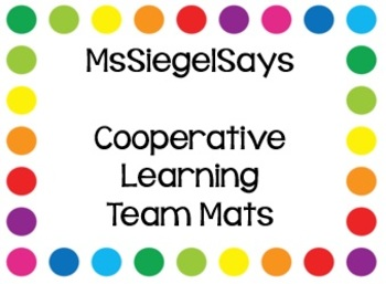 Cooperative Learning Team Mats