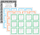 Cooperative Learning Team Role Cards in 10 colours