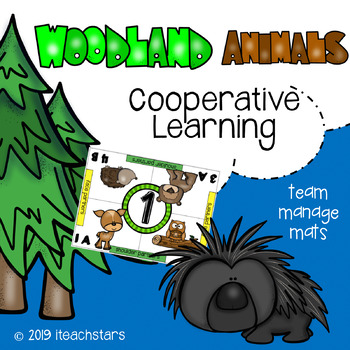 Cooperative Learning: Woodland (Forest) Animal Theme Manage Mats